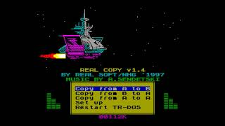 Real Copy 1.4 - Real Software (Brest) 1997 [#zx spectrum AY Music Demo]