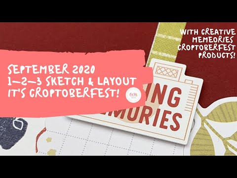 SIX CROPTOBERFEST LAYOUTS! | Sept 2020 1-2-3 Sketch & Layout | Creative Memories Croptoberfest