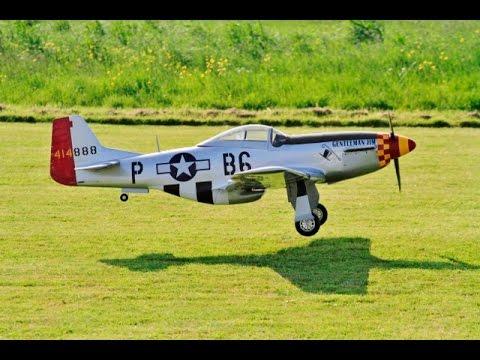 Hangar 9 P 51d Mustang 60cc Arf Ep Giant Scale Rc