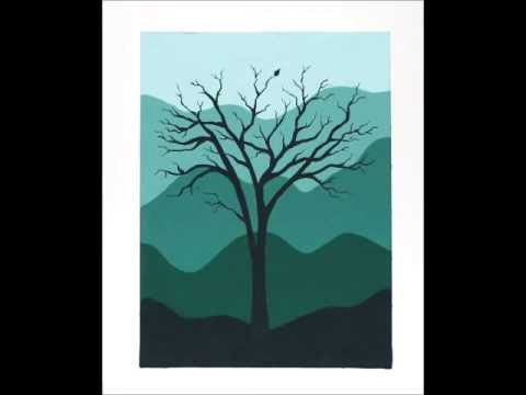 Easy Tree Acrylic Painting Silhouette Tutorial