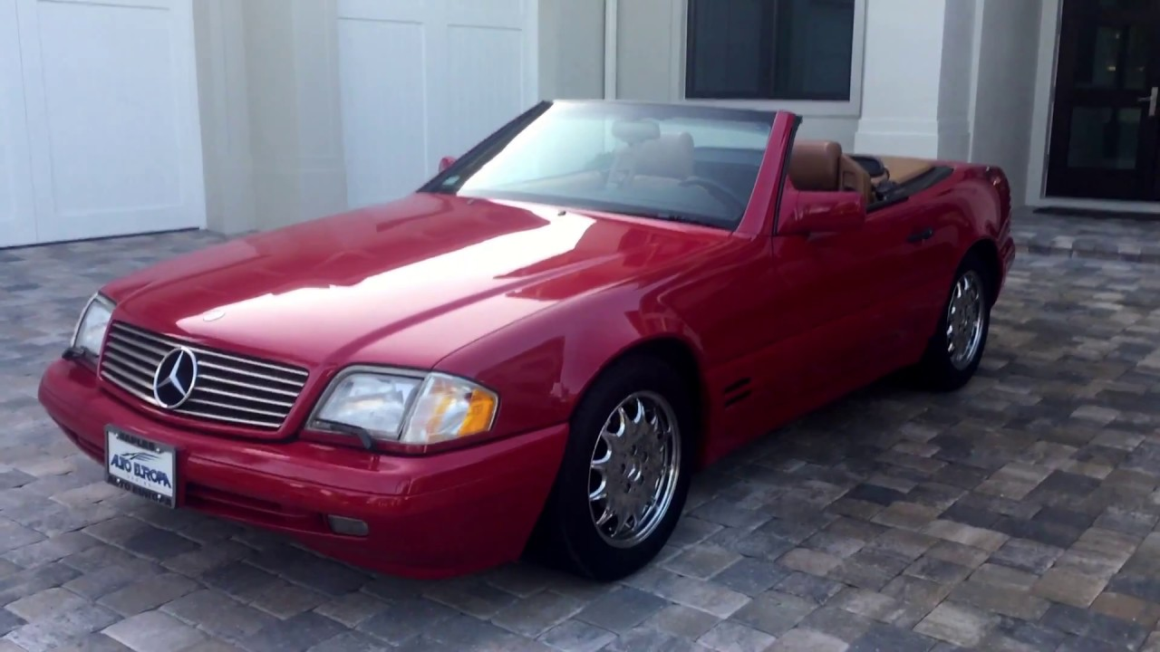 1996 mercedes benz sl500 roadster for sale by auto europa naples mercedes youtube. Black Bedroom Furniture Sets. Home Design Ideas