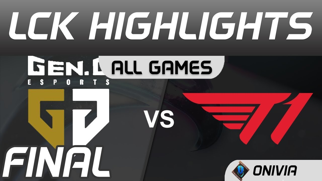 GEN vs T1 ALL GAMES Highlights Final LCK Spring Playoffs 2020 Gen G vs T1 by Onivia