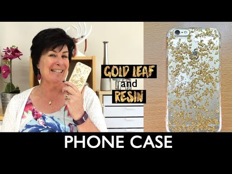 gold leaf and resin phone case