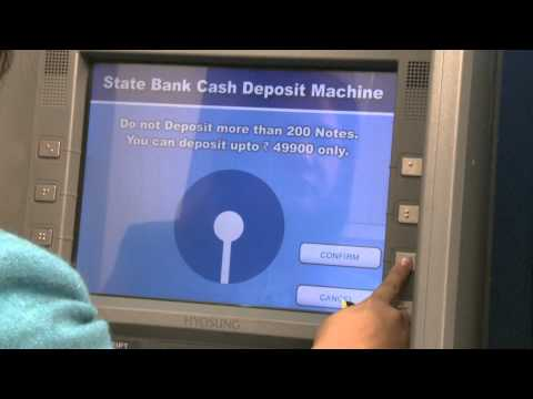 How to operate a Cash deposit Machine of State Bank of Patiala?