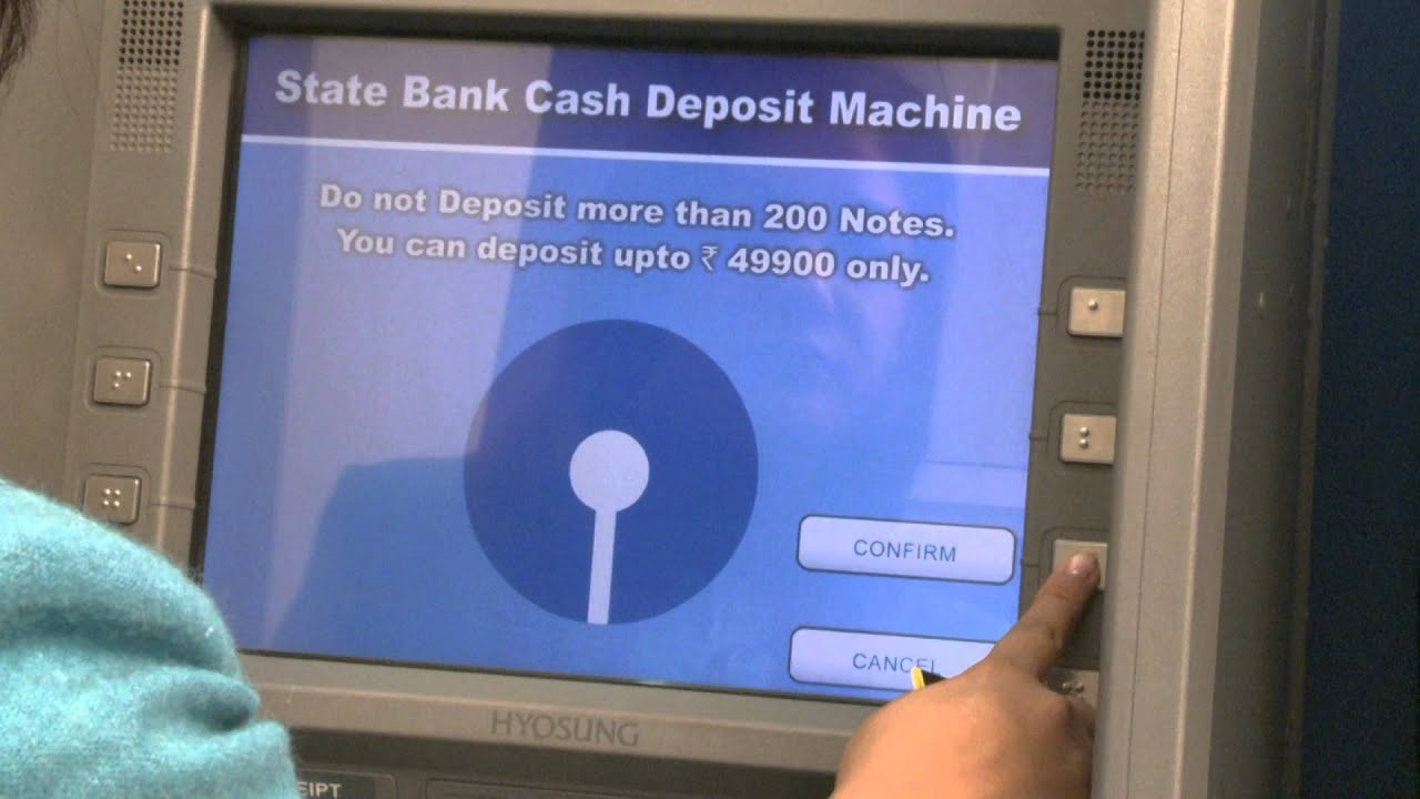 How to operate a Cash deposit Machine of State Bank of ...