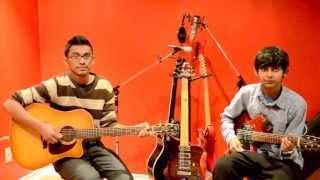 Varanam Aayiram - Nenjukkul Peidhidum - Guitar cover by Visakan - Super Leads Academy Of Music