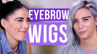 ATTEMPTING EYEBROW WIGS (Beauty Break)