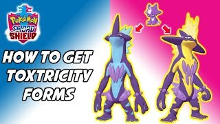 How to Get Each Toxtricity Form! Pokemon Sword and Shield Toxel Evolution Method