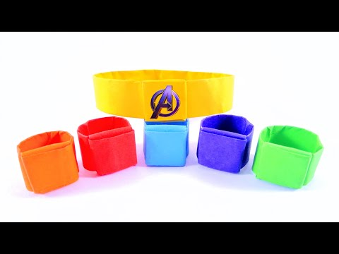 HOW TO MAKE INFINITY RINGS (INFINITY GAUNTLET) FROM AVENGERS USING COLORED PAPERS (ORIGAMI) !!!