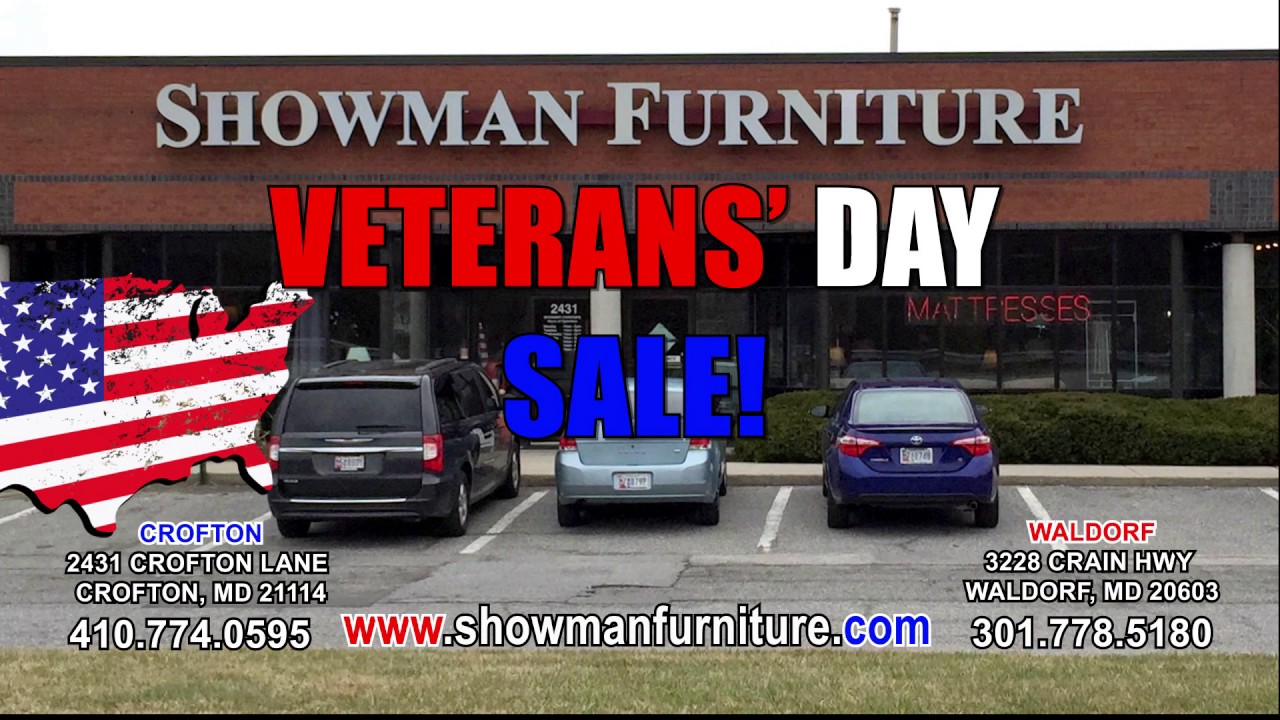 Amazing Showman Furniture Veteransu0027 Day