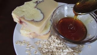 Making Soap with OATS & HONEY - Cold Process Soap - Use Natural Ingredients to Make Soap & Oat Milk