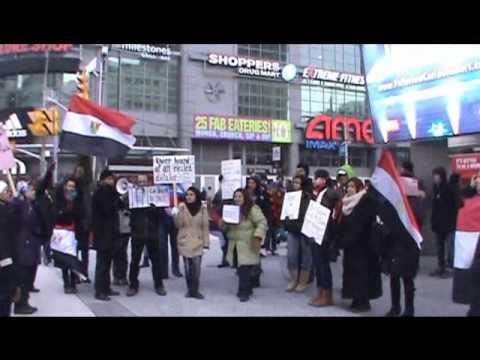 Egyptian Demonstration in Toronto, Feb. 2, 2013