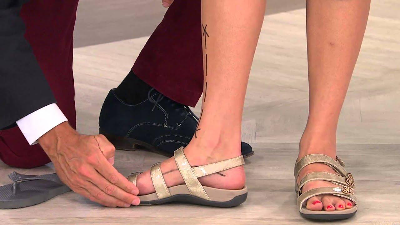 b9f7e19d36d9 Vionic w  Orthaheel Adj. Triple Strap Sandals - Cathy with Albany Irvin