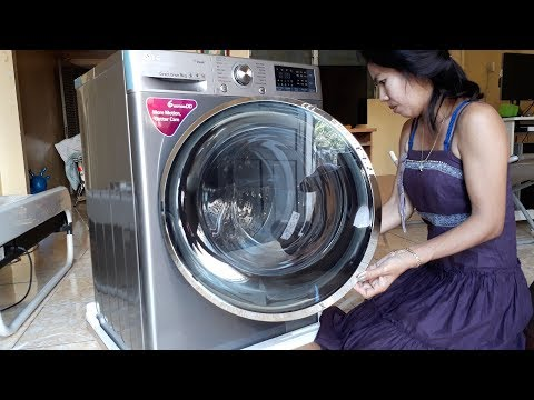 Cooking With Manila - Unboxing LG Front Load 9 KG 6 Motion DD Washing Machine With Turbowash™