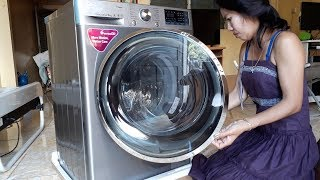 Unboxing Lg Front Load 9 Kg 6 Motion Dd Washing Machine With Turbowash™, Steam, Wifi