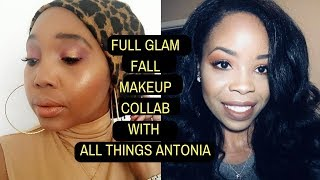 Fall full glam makeup collaboration with All Things Antonia| Roxie Stars