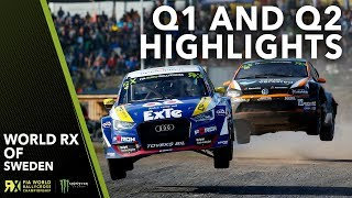 Q1 and Q2 Highlights | 2019 Swecon FIA World Rallycross of Sweden