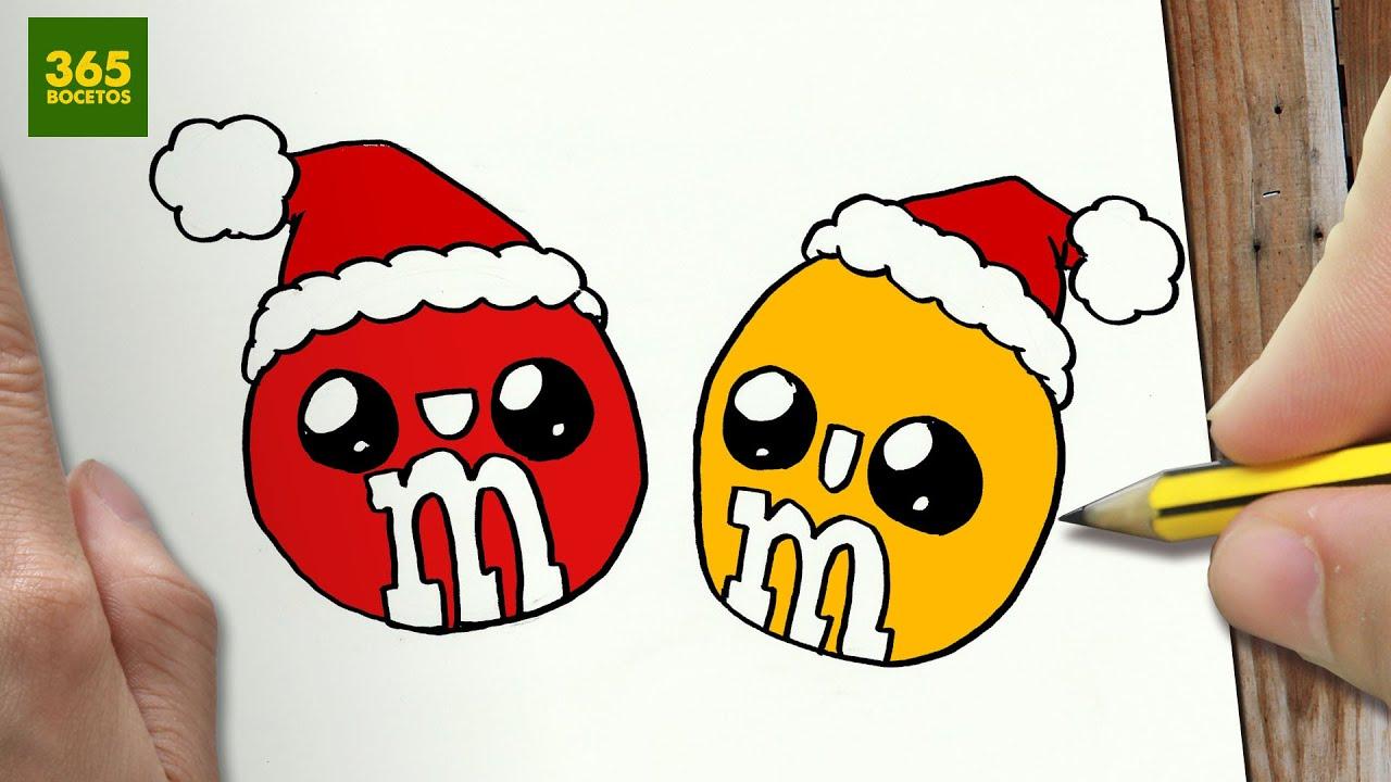 Como dibujar m m s para navidad paso a paso dibujos - Comment dessiner kawaii ...