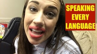 GIRL SPEAKS ALL LANGUAGES IN 2 MINUTES