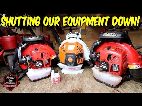 How We WINTERIZE Our Lawn Equipment & Shutting Down The Season (FINALLY!)