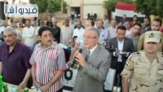 بالفيديو:محافظ المنيا  يشهد ختام الدورة الرياضية فى مركز شباب قرية صفط الشرقية
