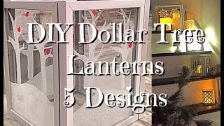 DIY Dollar Tree Holiday Staircase lanterns - 5 designs