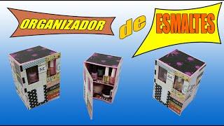 Organizador de Esmaltes de caixa de papelão – tipo mini armário