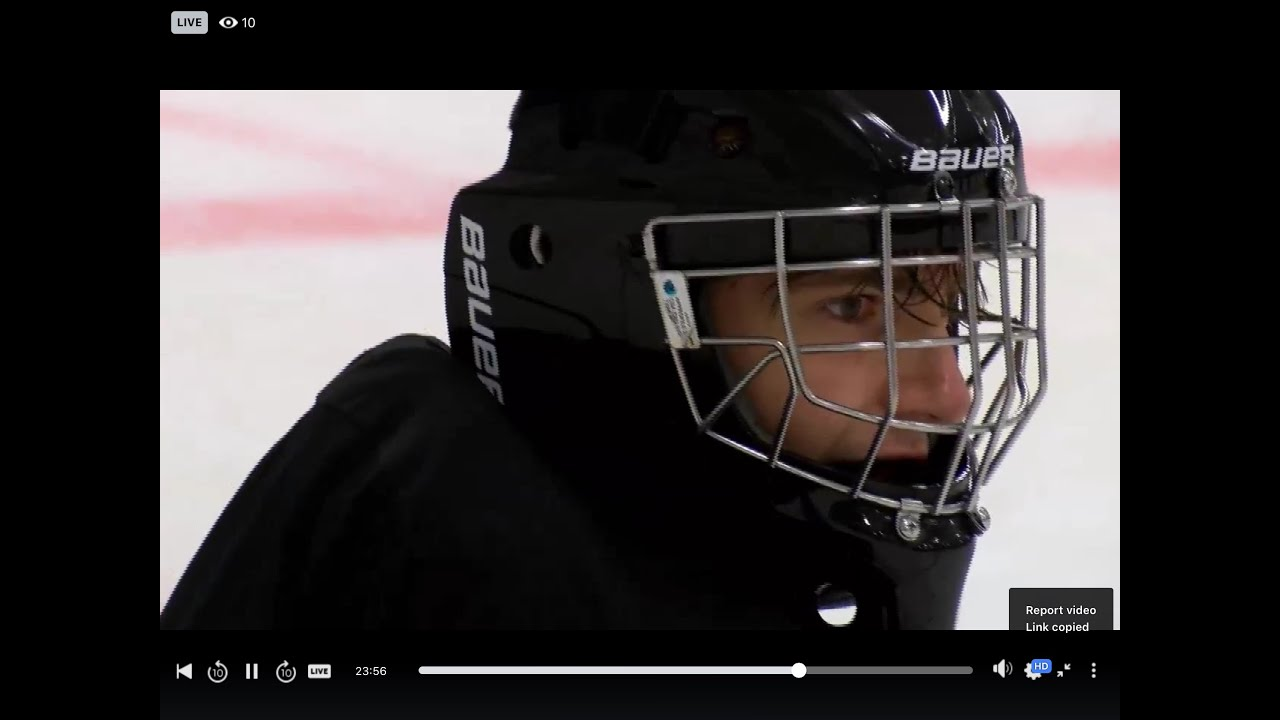 Junior Hockey Scrimmage Highlights. Shutout!