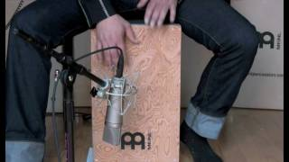 Meinl String Cajon, Makah Burl Jam with Jimmy Lopez and X8 Drums