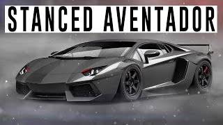 Stanced Lamborghini Aventador ( Photoshop / Time Lapse )