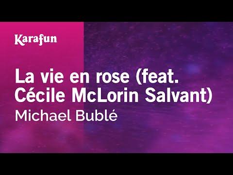 Karaoke La vie en rose (feat. Cécile McLorin Salvant) - Michael Bublé *