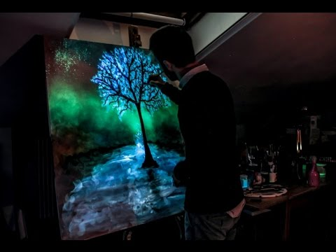 Crisco Art Painting Quot Bring Me To Life Quot Glow In The Dark