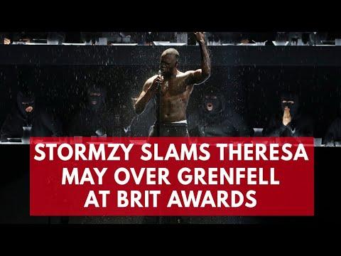 Stormzy slams Theresa May during Brits rap