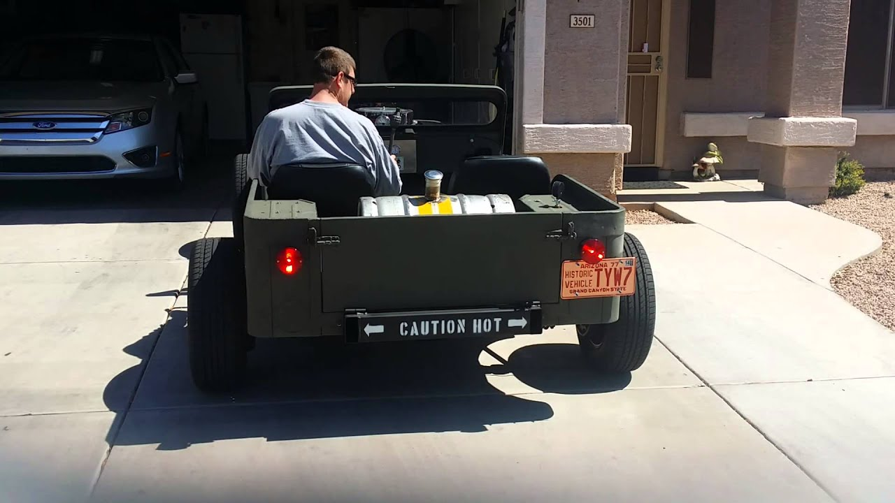 Jeep rat rod with sbc new exhaust - YouTube