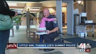 Little girl thanks Lee