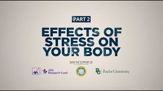 Do you know what stress is doing to your body? has the ability affect our moods and emotions, but it can also negatively impact physical health...