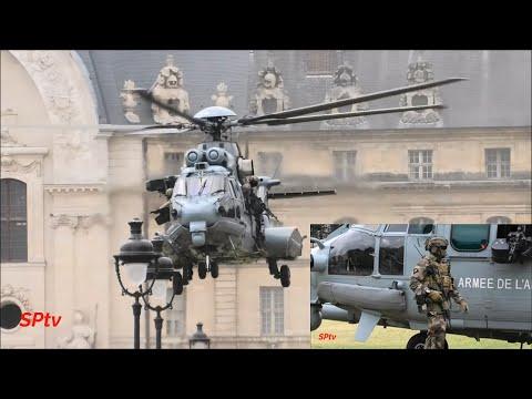 L'Armée Française Montre Ses Hélicoptères