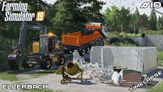 Demolishing house with VOLVO EWR 150E | Lawn Care on Ellerbach | Farming Simulator 19 | Episode 10