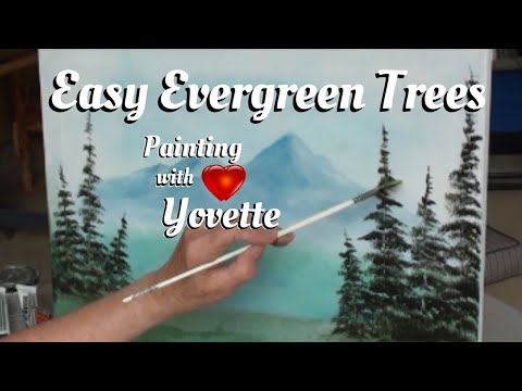 Painting With Yovette How to Paint Evergreen Trees Pt 1