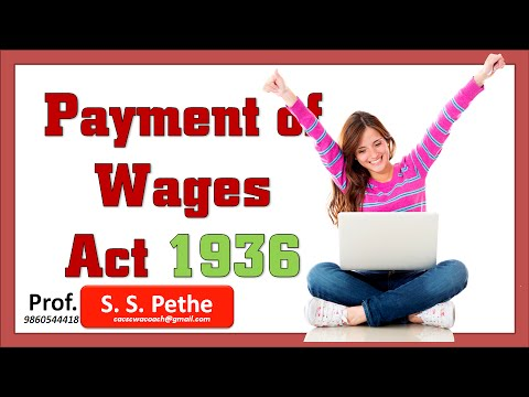 Payment of Wages Act 1936 = Part 1 (Full)