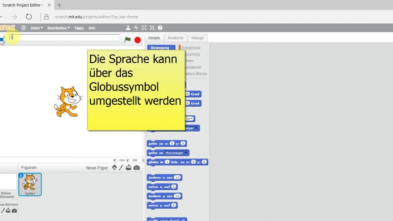 Scratch Auf Deutsch