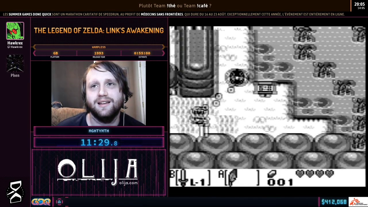 The Legend of Zelda: Link's Awakening en 52:22 (Warpless) [SGDQ20] thumbnail