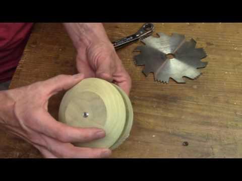 Sharpening a carbon steel dado blade.