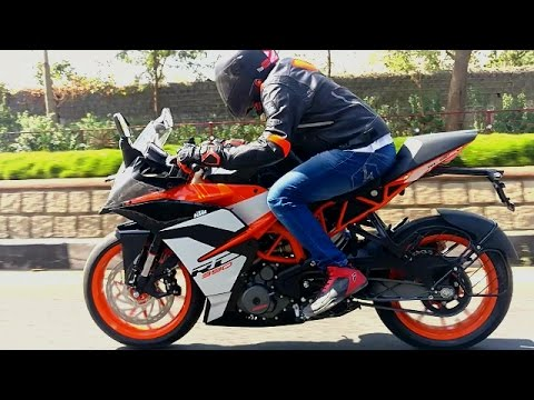 2017 ktm rc 390 first ride review, quick comparo with r3 and ninja