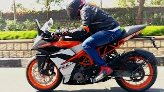 2017 KTM RC 390 First Ride Review, Quick Comparo with R3 and Ninja 300