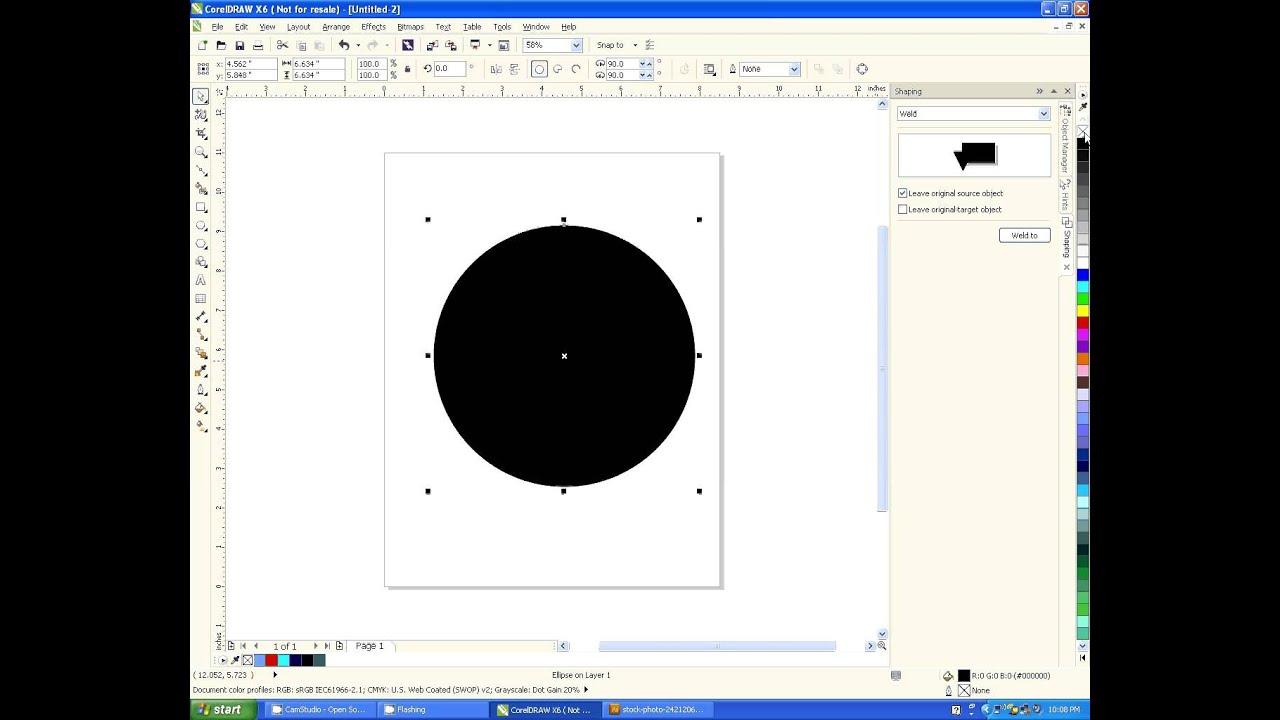 Line color in coreldraw - Corel X6 Add Or Remove Stroke And Fill Using The Color Palette