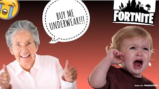 GRANDMA YELLS AT ME WHEN PLAYING FORTNITE!!! GETTING PEOPLE REACTIONS!!!