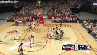 Playstation 4 NBA 2K14 HD Game Play - Houston Rockets vs. San Antonio Spurs