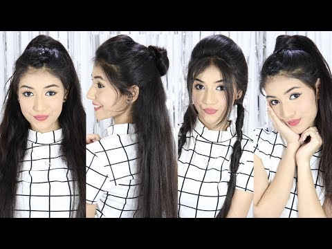 Beautiful & Easy Hairstyle For School, College, Party, Wedding | Best Hairstyles For Long Hair thumbnail