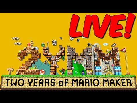 SUPER MARIO MAKER 2 JAAR! - LinkTijger Livestream